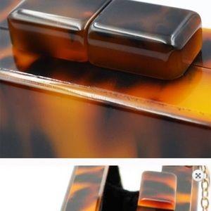 Bags - Tortoiseshell Acrylic Clutch